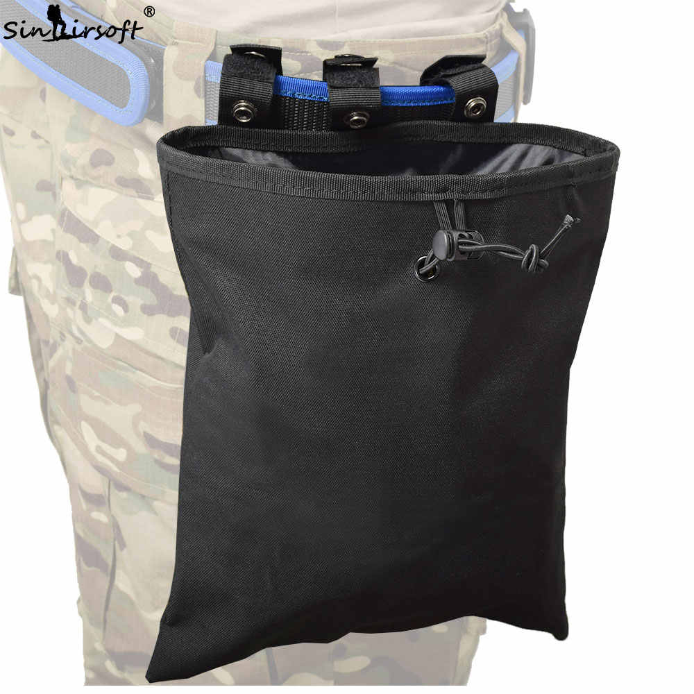 SINAIRSOFT New Molle bag Large Capacity Military Tactical Airsoft Paintball Hunting Folding Mag Recovery Pouch Molle Belt Loop