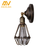 American Country Corridor Balcony Wall Lamp Retro Wall Mounted Wrought Iron Industrial Edison Wall Lamp Chimney