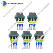 5 sets 4 Pin Plastic Connectors Automotive  With terminal DJ7044A-1.8-21 4P