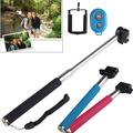 Multi-Color 3 in 1 Kit Monopod + Phone Holder Clip + Bluetooth Remote Shutter for iPhone /Samsung /HTC /Sony Max Length 1.02m