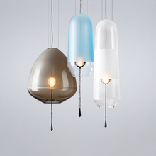 Modern LED Pendant Lights LOFT Lighting Glass Ball Lamps Home Deco Living Room Crystal Hanging Lamp Kitchen Fixtures