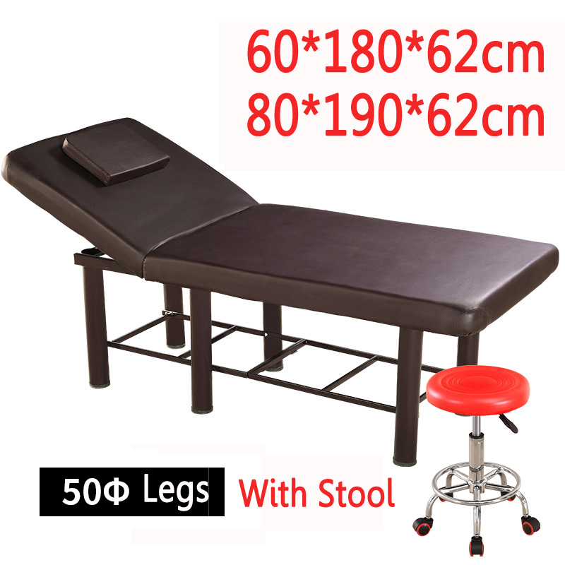 купить Stable Professional Spa Massage Tables Foldable Salon Furniture PU Bed Thick Beauty Massage Table with stools adjustable 80*190 по цене 11147.27 рублей