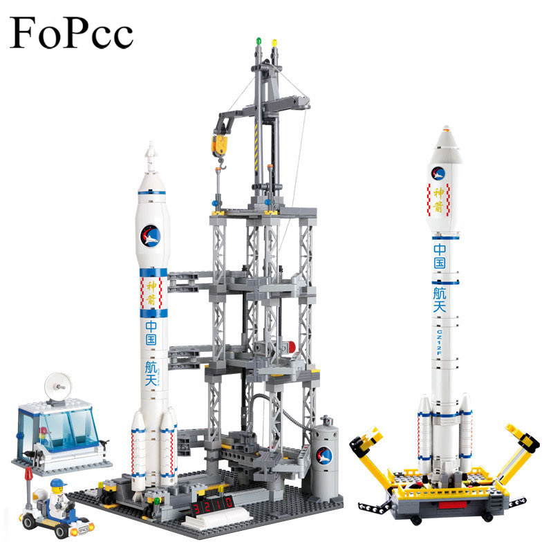 83001 822PCs Space Series Rocket Station Building Block Set Kids DIY Educational Bricks Toys Christmas Gift Legoings cheerlink zm 81 3mm neodymium iron diy educational toys set silver 81 pcs