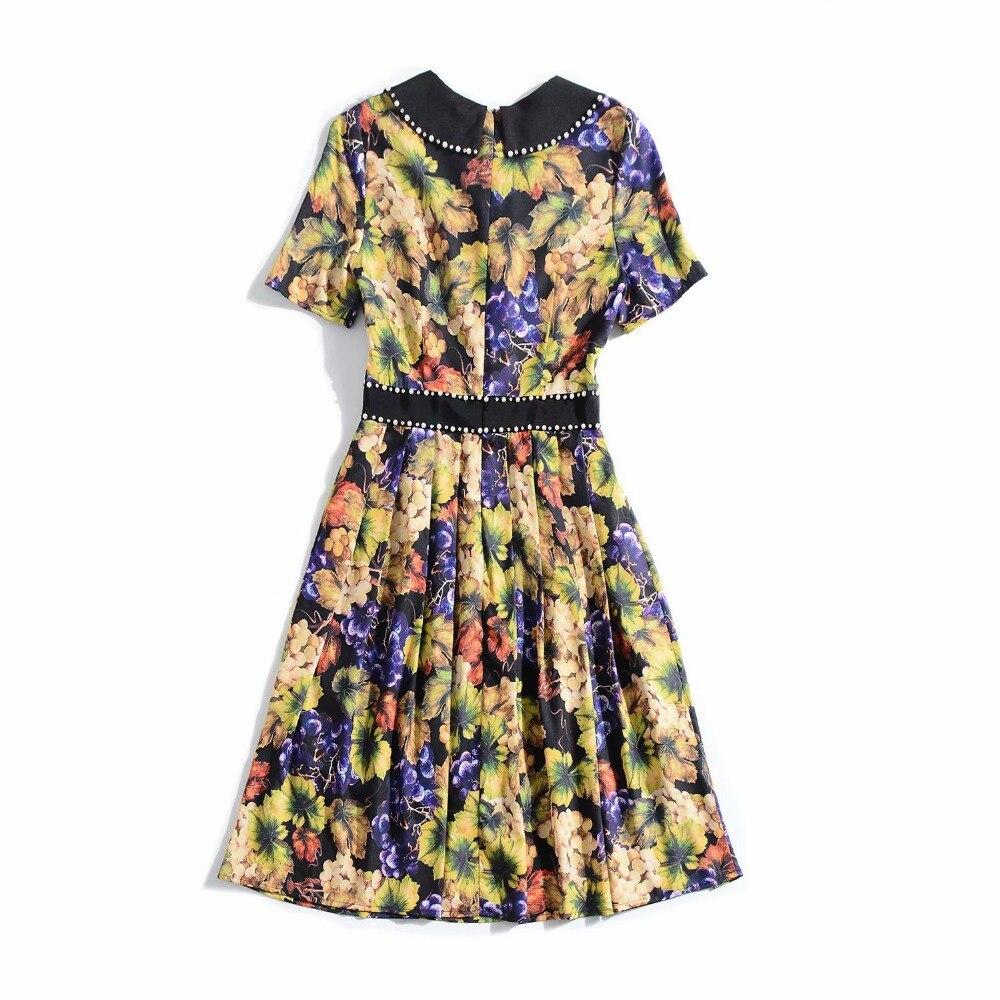 Femmes Design De Supérieure Marque Style Printemps Ws03154 Nouvelle 2019 Européenne Mode Qualité Robe Partie Luxe EIW2DH9