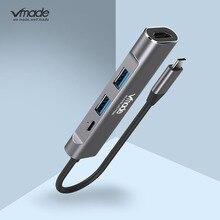 4 في 1 USB C محور 4K HDMI نوع C الصاعقة 3 حوض USB3.0 محول محول ل ماك بوك سامسونج S8/S9 هواوي P20 برو USBC التكيف