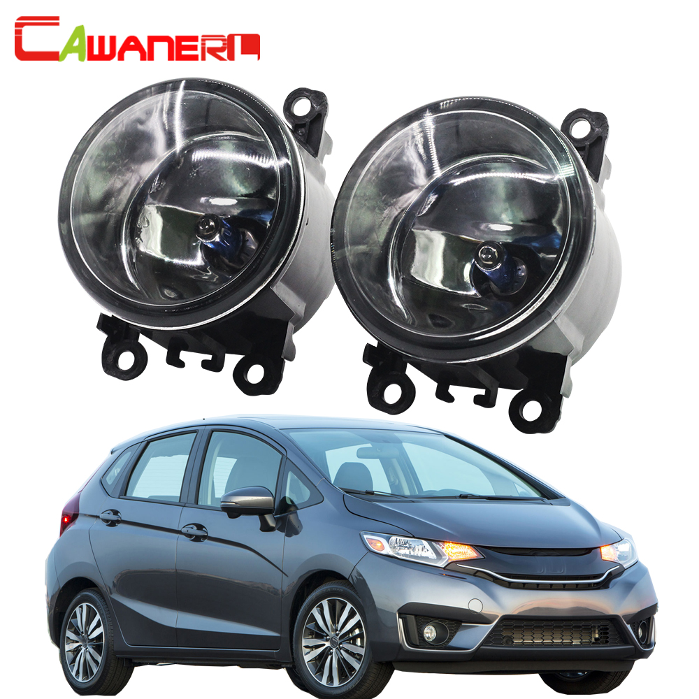 Cawanerl 100W H11 Car Light Accessories Fog Bulb Daytime Running Light DRL Halogen Lamp 12V 2 Pieces For Honda Fit 2015 Up
