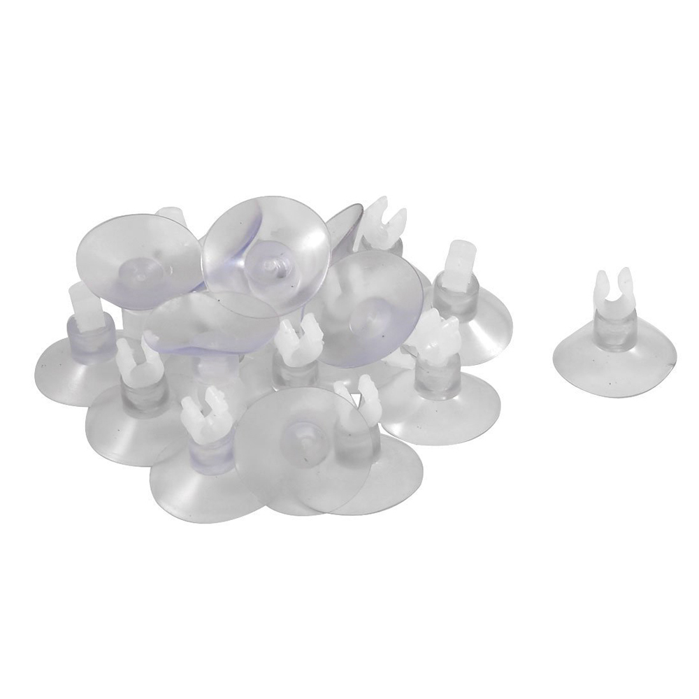 20pcs Aquarium Clear Suction Cup Airline Tube Holders Clips Clamps
