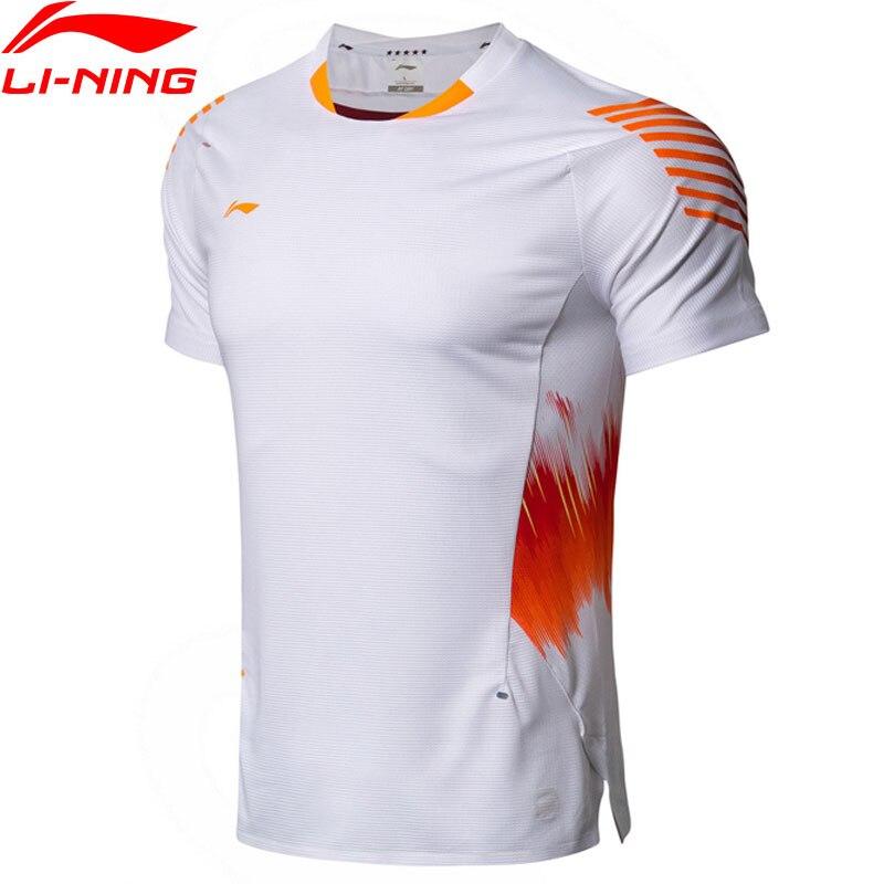 T-Shirt de Badminton homme li-ning à sec respirant confort équipe nationale compétition haut doublure sport t-shirts T-Shirt AAYN005 MTS2889