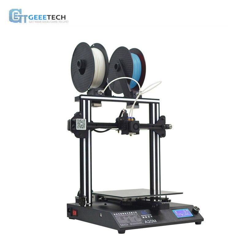 Geeetech A20M Mélanger-couleur bricolage 3D Imprimante Montage Rapide Filament Fetector Pause-la Reprise Capacité 255*255*255 Volume D'impression