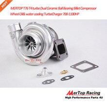 MERTOP T76 T76R T4 турбо двойной Керамический шарикоподшипник заготовка компрессора колеса масло и водяное охлаждение Турбокомпрессор 700-1100HP
