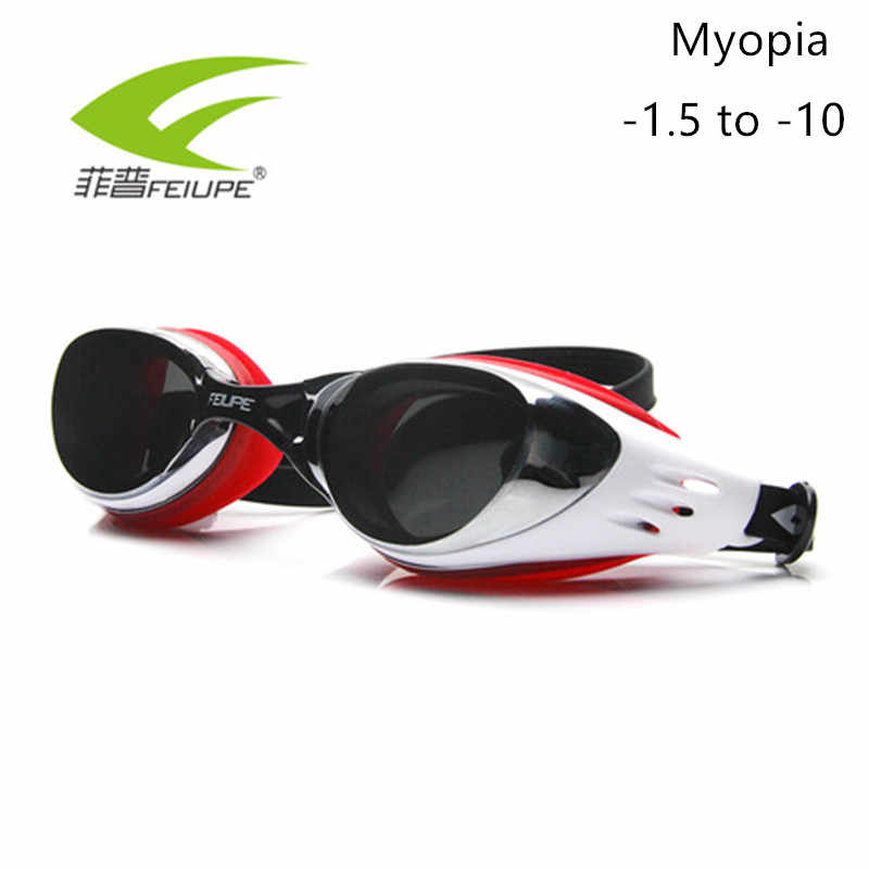 Myopia Swimming Goggles Silicone Anti-fog HD Diopter Swim Eyewear UV Glasses Mask Adult Prescription Optical Child C507