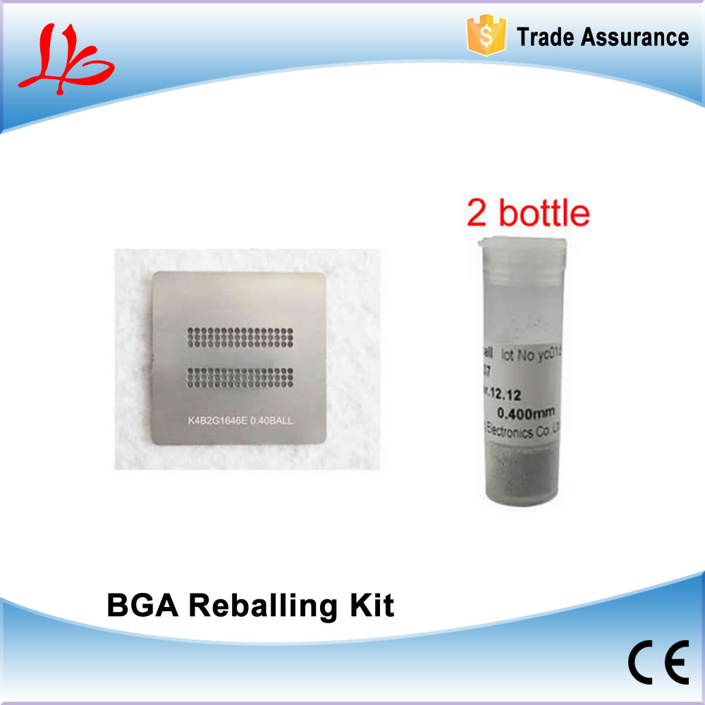 BGA PS4 Stencils Direct Heating K4B2G1646E DDR3 SDRAM with 2pcs 25K solder ball 0.4mm for BGA Reballing bga reballing kit with 295pcs direct heating stencils for newest smartphone laptop desktop ram xbox ps3 wii psp gpu cpu