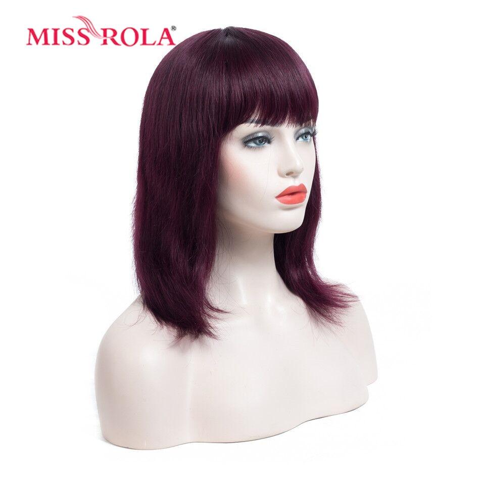 미스 롤라 헤어 브라질 헤어 # 4 스트레이트 10 인치 - 인간의 머리카락 (검은 색) - 사진 2