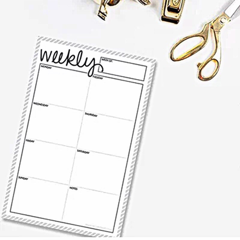 2018 Dokibook Can tear Memo Pad Notepad Weekly plan Schedule note Date note pages Creative Planner DIY accessories pages A5/A6
