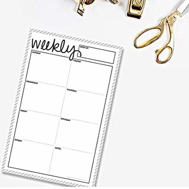 2018 Dokibook Can tear Memo Pad Notepad Weekly plan