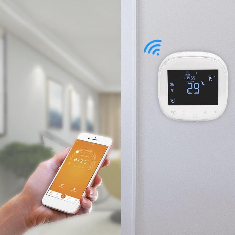 WIFI Thermostat eau/chauffage par le sol électrique thermorégulateur eau/gaz chaudière régulateur de température fonctionne avec Alexa