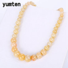 Yumten Natural Topaz Stone Statement Coin Rainbow Necklace Male Crystal Choker Charm Chain Reiki Vintage Men Women Jewelry Gift(China)
