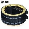 Para sony adaptador de lente af enfoque automático macro extension tube set 10mm 16mm adaptadores para sony dslr cámara