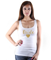 Bride Heart Print Bride Team Heart Golden Print Tank Tops Bachelorette Party Women Cotton Summer Sexy