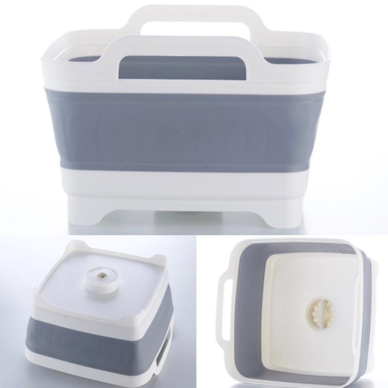 Washing Basket Fruit Storage Kitchen Drain Multi-function Folding Sink Rack  For Caravan Boats Camper Car RV Kitchen