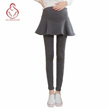 New pants pregnant women fake two pregnant women pants skirt adjustable waist pregnancy pants pregnant women pregnant clothes(China)