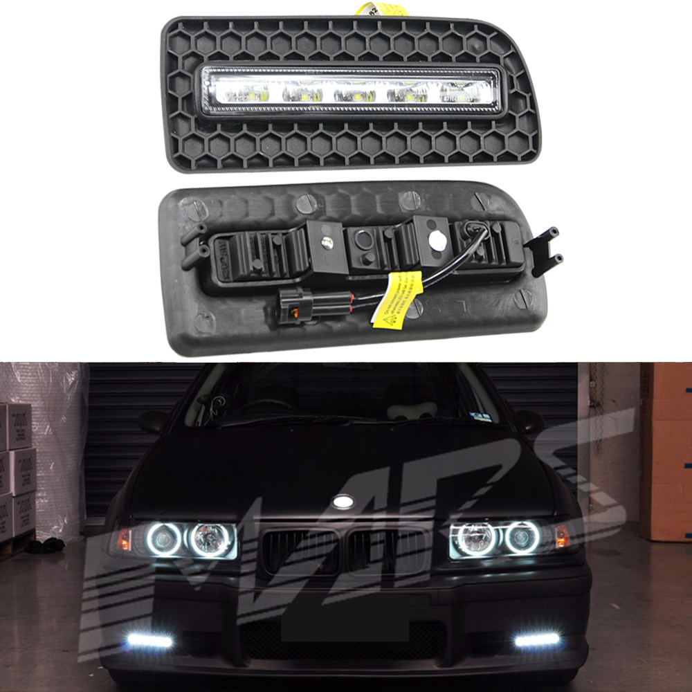 12V Waterproof Drl Daytime Running Light Led Light For BMW E36 M3 1992-1997 Dimmable(75%,50%,30%) Led Drl With Turn Signal