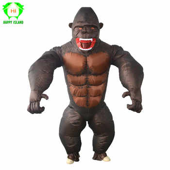 Inflatable orangutan Costume King Kong Cosplay costume Mascot Animal Monkey For Halloween Purim Carnival Fancy Dress Adult Kid - DISCOUNT ITEM  35% OFF All Category