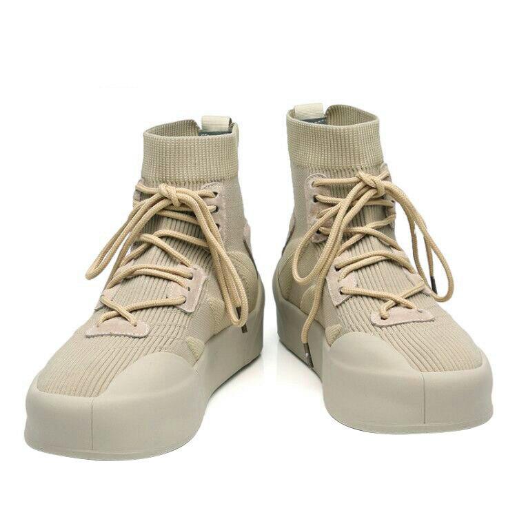 Maggie's Walker nouveauté hommes maille chaussures décontractées mode plate-forme élastique chaussures en toile tricoté respirant chaussures taille 40 ~ 44 - 6