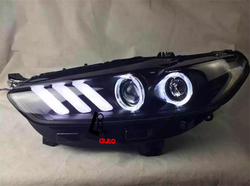 Ford Mondeo 2015 White >> car styling Bi xenon Projector Mustang Style Headlights DRL For ford mondeo fusion 2013 2015 ...