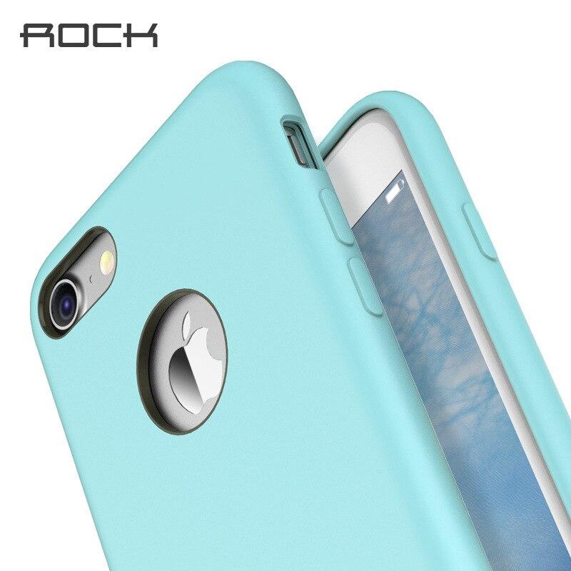 imágenes para Para el iphone 7/7 Plus Caso ROCA cubierta de Silicona Coque Toque mate Protección Delgada de silicio Bolsa Del Teléfono para el iphone 7 cubierta