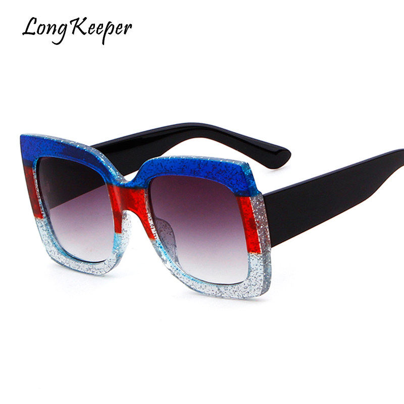 Apparel Accessories Long Keeper Big Square Sunglasses Frames For Men Women Vintage 2018 Trendy Gradient Color Eyewears 100% Uv400 Protection S586hz Smoothing Circulation And Stopping Pains Women's Sunglasses