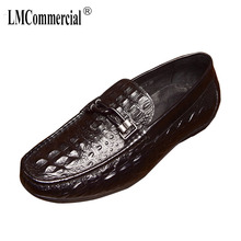 Spring Summer Mens Leisure Driving Shoes Cowhide men casual natural leather loafers mens luxury shoes designer