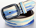 Hot Fashion Leather Belt Bright Color Printing Designer Cowhide Belt For Student Youngster Cow Boy Belt  For Jeans Pants