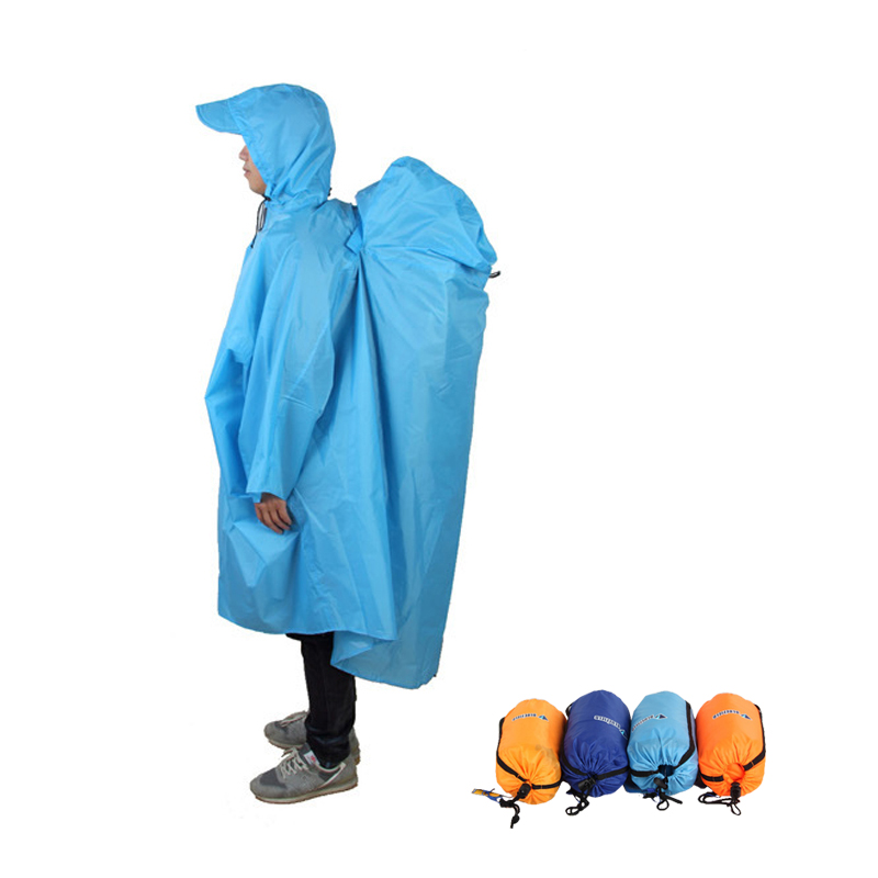 Jackets Backpack-Cover Poncho Raincoat Hiking Outdoor Unisex Camping One-Piece title=