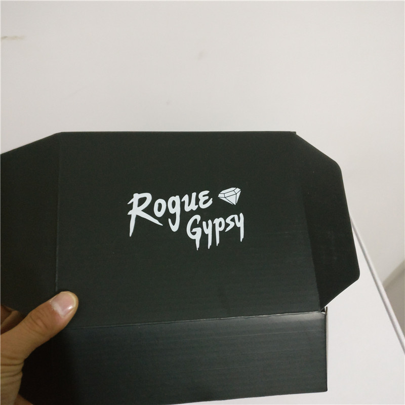 59626e0c8d9 100PCS lot Custom Black Corrugated paper box printed logo shipping mailer  boxes Packaging Polo T shirt underwear Clothing boxes-in Gift Bags    Wrapping ...
