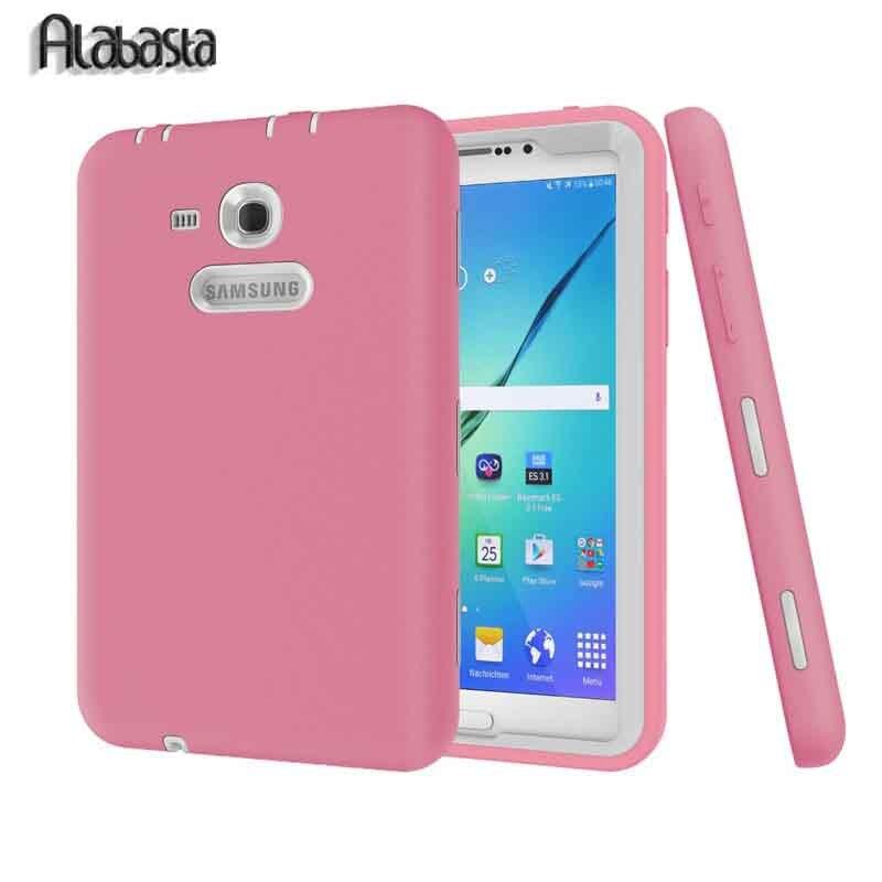 Alabasta Kids Shockproof Rugged Heavy Duty Silicone Pc Case Cover For Samsung Galaxy Tab 3