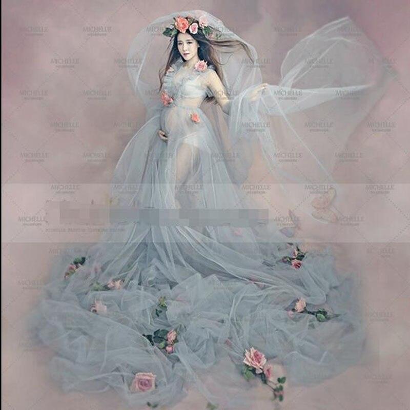ФОТО fairy tale Fairy dress up Gauze dress Studio Maternity Photography Props Pregnant Women Fancy Dress Photo Shoot TBGD-2