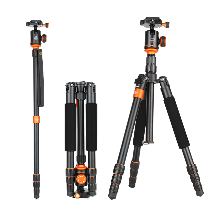 SL288 Professional 2 in 1 Portable Travel Photo Camera Tripod Monopod Aluminum tripod for DSLR Digital Video Camera 10kg Load sirui p204s professional monopod photo video monopod for dslr camera aluminum table tripod 4 section carrying bag max load 8kg