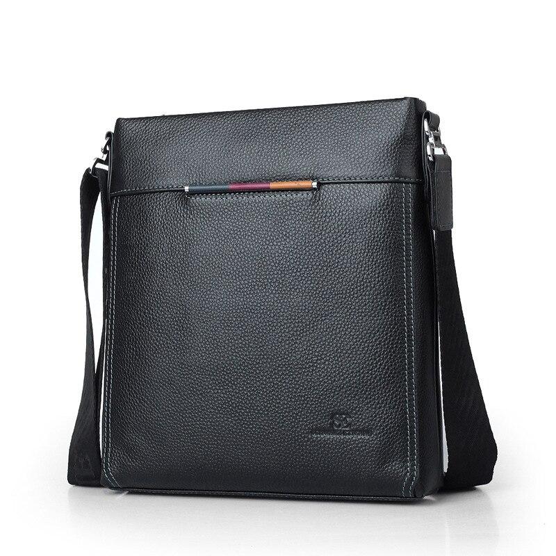 Cow Leather Men Messenger Bag Casual Business Vintage Men's Bag Genuine Leather Shoulder Bag Crossbody Bag цена