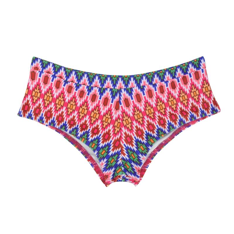 Летний женский спортивный купальный костюм, брюки, одежда для плавания, купальник с заниженной талией, сексуальные плавки для девочек с принтом, B605 - Цвет: B605L