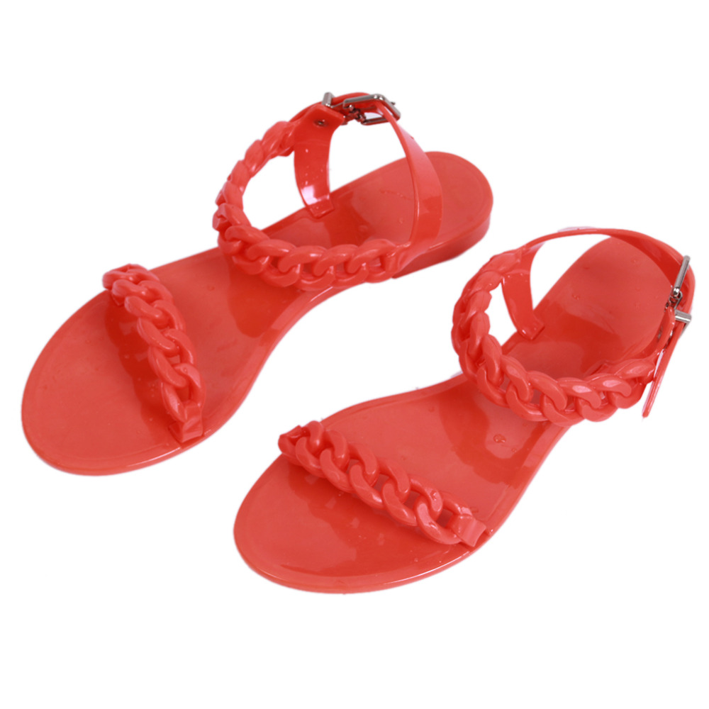 European sandals shoes - European Flat Sandals Pvc Women Summer Beach Shoes Fashion Sandals Shoes Woman Flat Sandals Slippers Tr876390