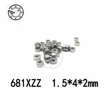 Free shipping 681XZZ ABEC-5 (100 PCS) L-415ZZ 1.5X4X2mm Miniature Ball Bearings W68/1.5ZZ 1.5*4*2 mm
