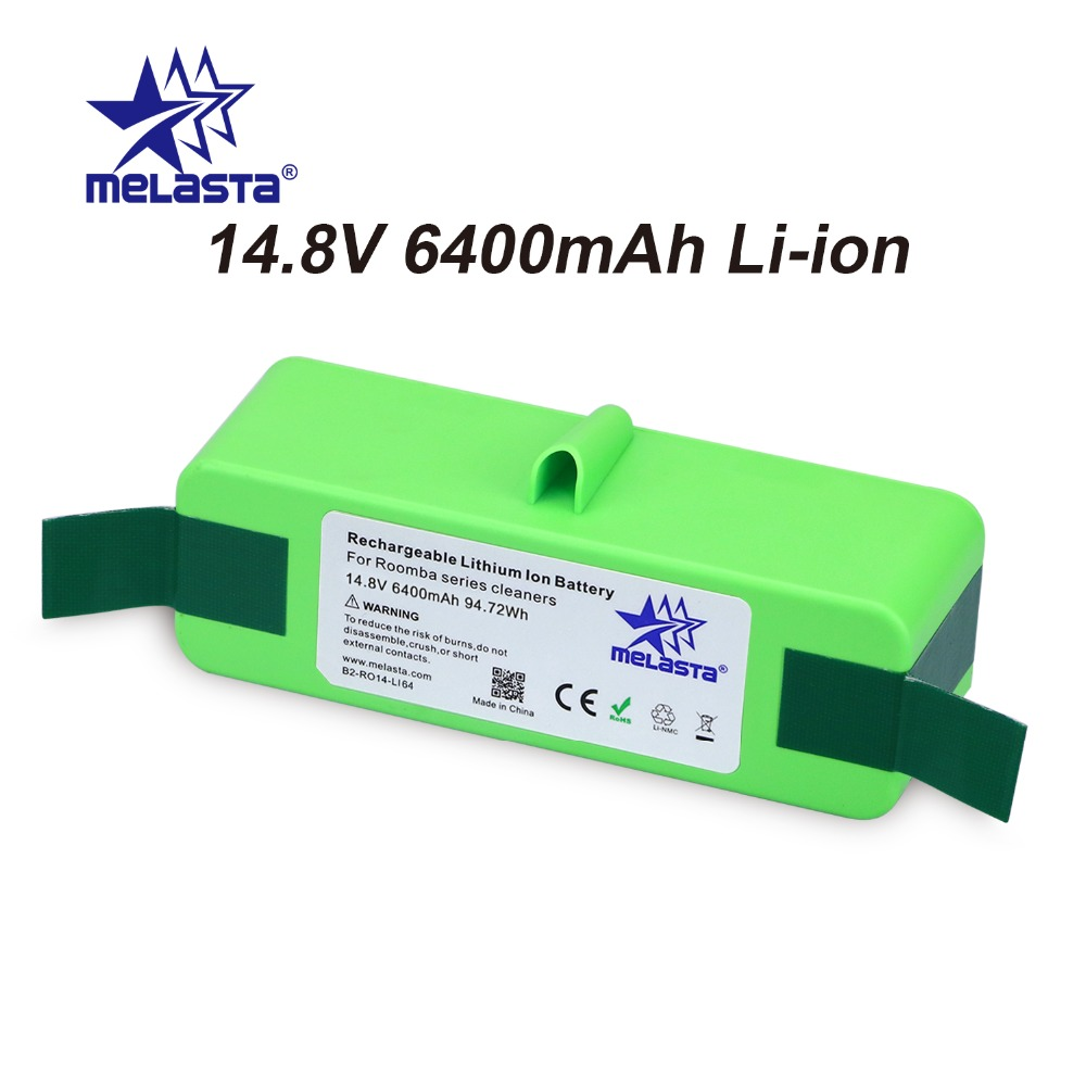 6.4Ah 14.8V Li-ion Battery with Brand Cells for iRobot Roomba 500 600 700 800 980Series 510 530 550 560 650 770 780 870 880