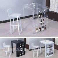 Акрил паб мини бар столик с хранения бутылки вина стойку идеально подходит для небольшой гостиной