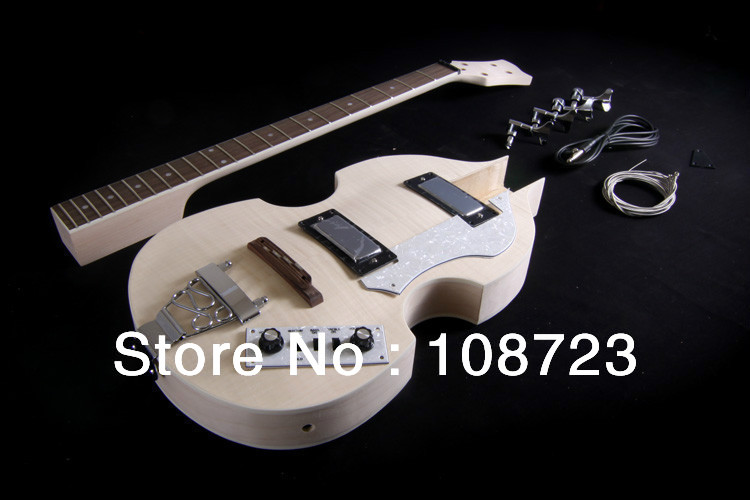 BRICOLAGE Semi Hollow Body Violon Guitare Basse Électrique Kit