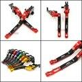 For Kawasaki Ninja 650R ER6F ER6N Motorcycle Accessories Adjustable Folding Extendable Brake Clutch Levers Red