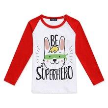 2019 New Baby Girls Tops Child T Shirts Boys Long Sleeve Superhero Dog Printed Color Block T-Shirt Cotton Children Clothing все цены