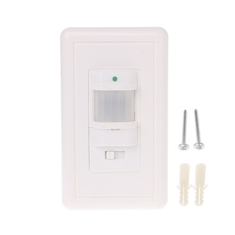 110V AC Auto On/Off Infrared PIR Occupancy Vacancy Motion Sensor Light Lamp Switch White ...