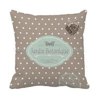 Jardin Botanique Style Print Custom Dot Brown Patio Cushion For Sofa Chair Home Decor Throw Pillow Coussin Decorative Pillows