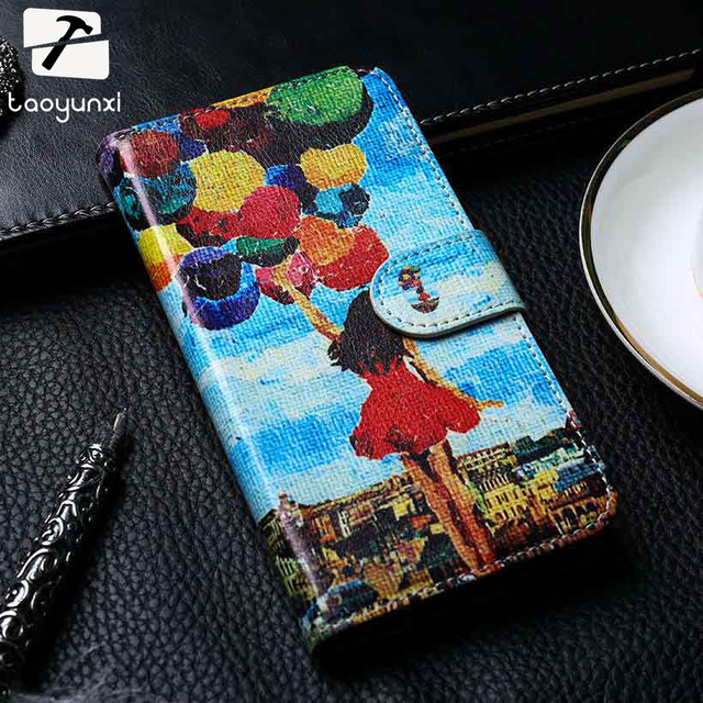 TAOYUNXI PU Leather Case Cover For Asus Zenfone 3 Max ZC520TL X008D Zenfone3 Max Asus Zenfone Pegasus 3 Covers DIY Painted